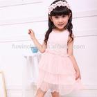 England style flower girl dress school girls without dress