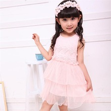 England style flower girl dress school girls without dress