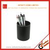 Hot sales Desk Accessories Desktop Leather Round Pen and Pencil Box
