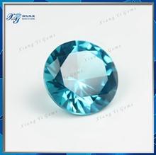 Large Round Aquamarine Cubic Zirconia Ceylon Gems Stones 8MM Round Cut African Semi Precious Stones