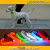 Super Value High Quality Nylon Nylon LED Flashing Dog Collar With 3 Flashing Mode 8 colour