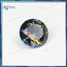 Rainbow Color Jasper Crystal Cubic Zirconia Gems Esoteric Best Round Cut 8MM Syntheic CZ Rainbow Stones Pebbles