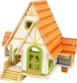 China fabrico de quebra-cabeça 3d boneca brinquedo de madeira casa villa floresta