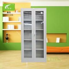 steel glass door file cabinet/ modern steel fireproof file cupboard/ steel cabinet locker