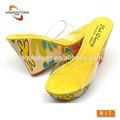 2014 neuesten mode mädchen gelb schuhen mit hohen absätzen
