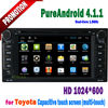 Android 4.1 for toyota fortuner car gps navigation system radio wifi 3G tv double din 8 inch 2010 2009 2008 2007 2006 2005