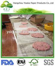 Turkey Burgers Home Wax Paper For Good Segregation