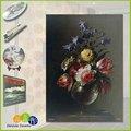 再現壁画セラミック花瓶の花の油絵