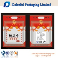 sweet potato bag/side gusset fried tomato chips bag / Plastic Nuts bags With Window