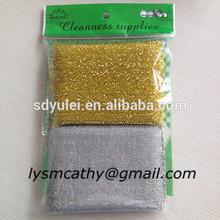 Sliver and gold promotional sponges scourer