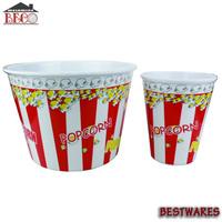 New design melamine popcorn fruit storage bowls box