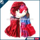 Contrast colored printed hot arab hijab muslim fashion scarf