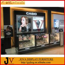 Casio glass counter watch display showcase