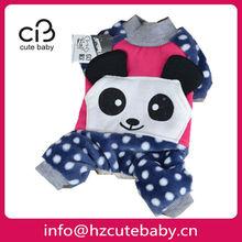 panda design pet dog clothes