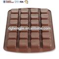 silicone wilton 24 cavidade praça brownie mordida do molde