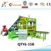 2014 HOT sale low price QTY6-15 full automatic hydraulic concrete blocks making machine uk