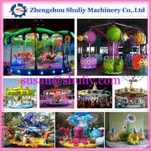 Shining game amusement carousel,amusement carousel game