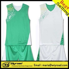 Accept sample order plain basketball wear/fashional basketball uniform/polyester basketball uniform