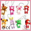 ISO 9001 Factory hot selling soft animal shaped custom plush toy keychain