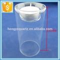 Limpar Handmade borosilicato suporte de vela de vidro