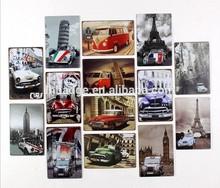 Europe art vintage tin signs, bus ,car metal plaque,hanging advertising tin signs