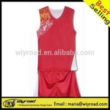 Accept sample order basketball training wears/sublimation printing basketball uniform/latest basketball uniform design
