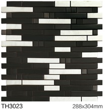 2014 world cup good quality stainless steel mosaic tile in Foshan, rustic mosaic , brick mosaic
