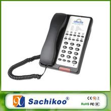 hotel telephone customized faceplate black