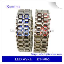 Led watch bracelet Lava style iron samurai led watch bracelet