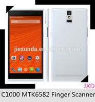 New Star C1000 smart phone 5.5inch quad core mtk6582 Android4.4 support fingerprint unlock