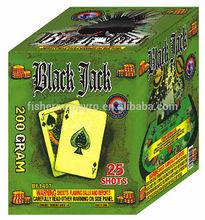 200 gram BLACK JACK 25 Shots Consumer Cake Fireworks for factory direct price