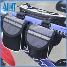 folding bike saddle travel bag with rain coat for bicycle accessories