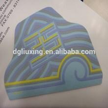 special shape custom hem label with laser cutting edges