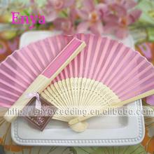 EYSF06 21cm Pink hand fans wedding favors
