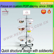 2014 Custom retail shop high quality products pop candy display rack