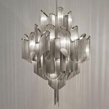 hecho a mano de la cadena de aluminio candelabros candelabro de atlantis para el hogar