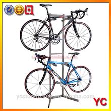 indoor two tier bicycle display rack