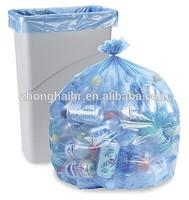 Factory make blue black white star bottom garbage plastic bag
