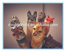 Handmade Carved Exotic Owl Shape Wood Ball Pen