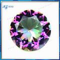 8mm laboratório criado extravagante china jóias gemstone rodada brilhante chapeado colorido de cristal gema o comprador por atacado anel de diamante