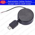 New design one way carretéis retrátil Micro cabo USB para personalizado VGA AV cabo HDMI QYH