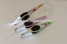 2014 YS1043 Yongsun Cosmetic Stainless steel best eyebrow tweezers scissors tweezers