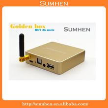 2014 New Golden box WiFi WLAN Audio Receiver Adapter AirPlay DLNA Kabelloser Lautsprecher Bluetooth