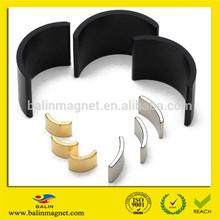 China manufacturer large super high grade sintered rare earth permanent ndfeb motor rotor magnet