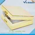 lo más vendido piezas 15 microscopio diapositivas preparado cajas de madera