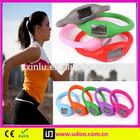 Popular silicone wristband pedometer