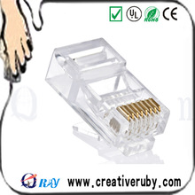 high quality one - piece cat 6 utp 8p8c male rj45 connector