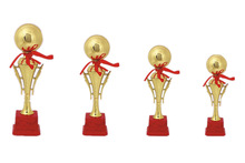 Round beautiful metal high quality cheap trophies