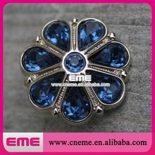 Dark Blue Diamond Round Flower Shape Clear Crystal Fashion Wedding Decoration Acrylic Rhinestone Button