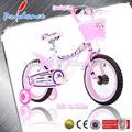 Colorful miúdos moto, pneu branco motos menina, motos menina com tecidos à mão cestas